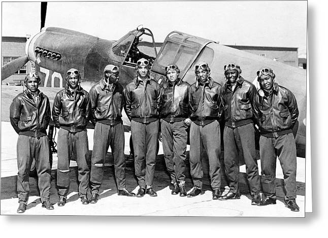 The Tuskegee Airmen Circa 1943 Greeting Card