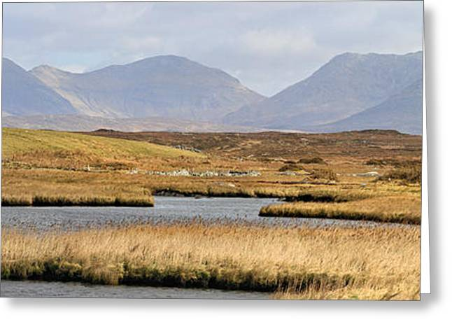 The Twelve Bens Mountains Connemara Ireland Greeting Card