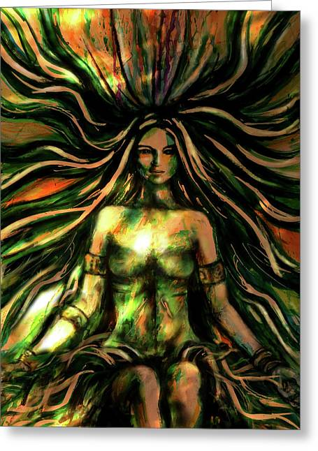 The Twines Of Dream Weaving Greeting Card