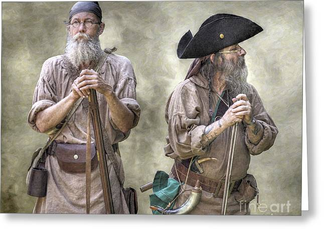 The Two Frontiersmen  Greeting Card