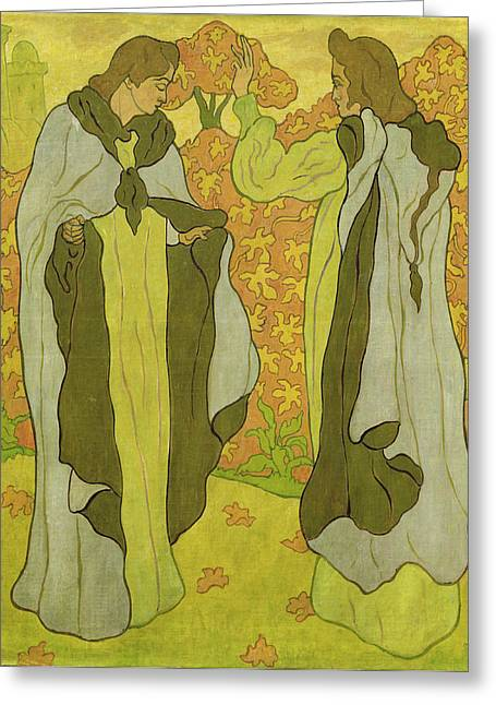 The Two Graces Greeting Card by Paul Ranson