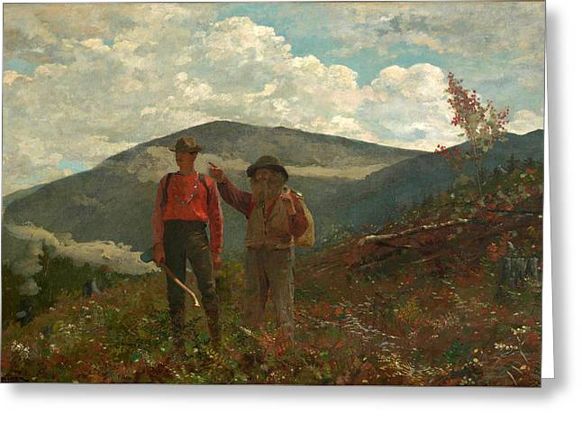 Greeting Card featuring the painting The Two Guides by Winslow Homer
