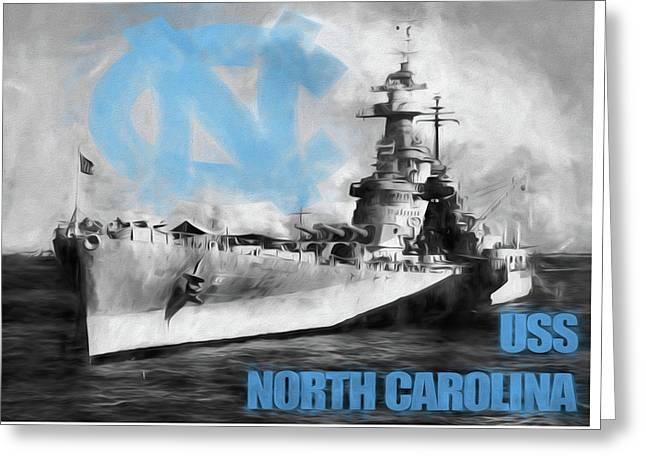 The U S S North Carolina Greeting Card