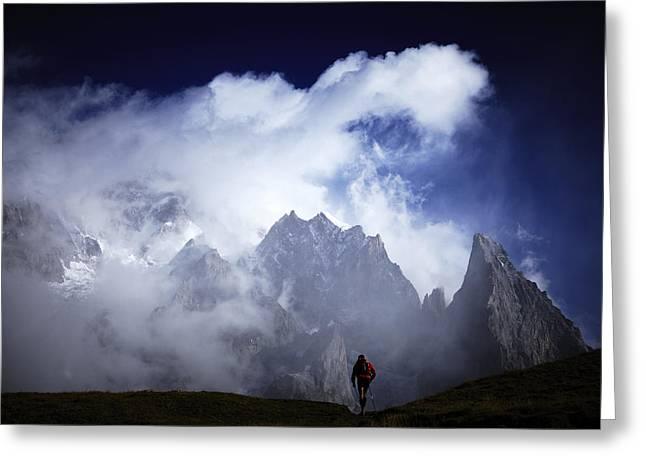 The Ultra-trail Du Mont-blanc Greeting Card by Yosuke Kashiwakura