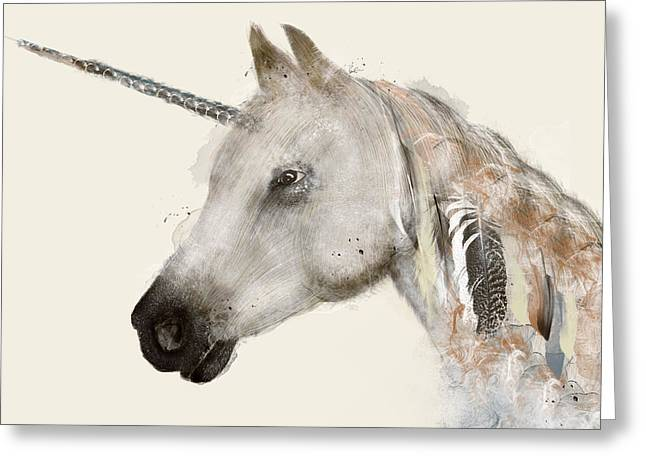 The Unicorn Greeting Card by Bri B