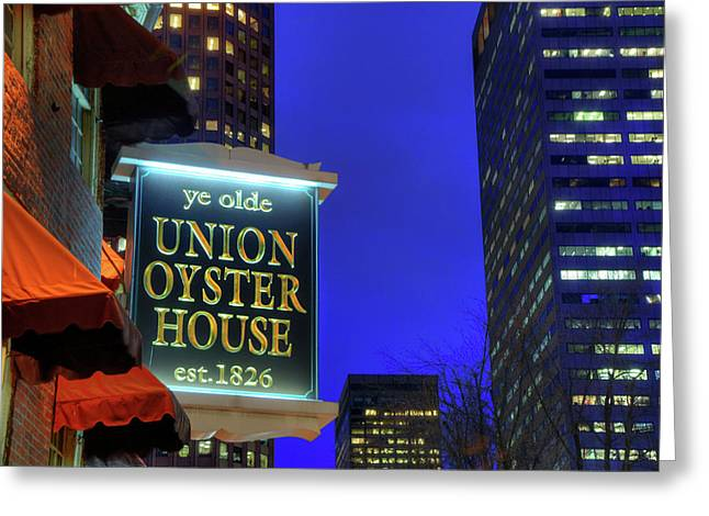 Greeting Card featuring the photograph The Union Oyster House - Boston by Joann Vitali