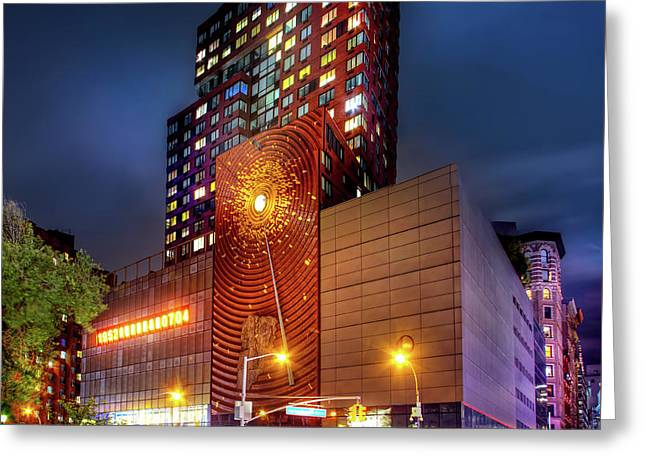 The Union Square Metronome Greeting Card by Mark Andrew Thomas