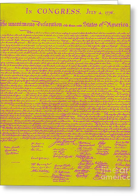 The United States Declaration Of Independence 20130215m68 Greeting Card by Wingsdomain Art and Photography