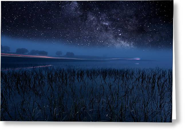 The Universe Greeting Card by Jorge Maia