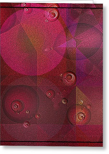 The Universe Of Purple Greeting Card