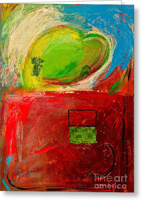 The Unrestricted Heart 4 Greeting Card by Johane Amirault