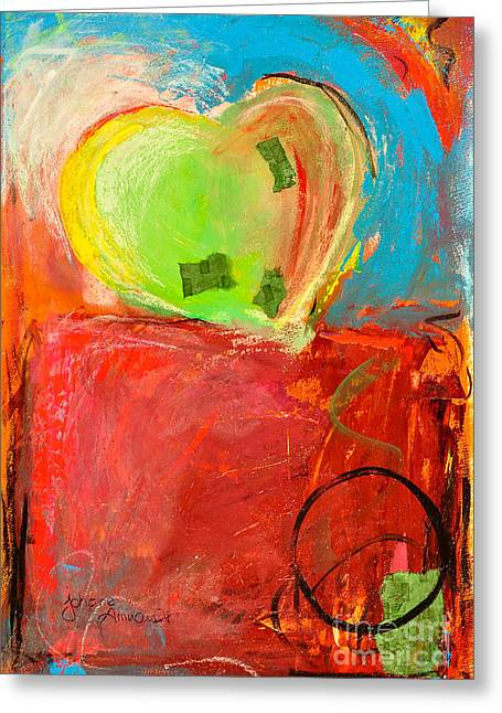 The Unrestricted Heart 5 Greeting Card by Johane Amirault