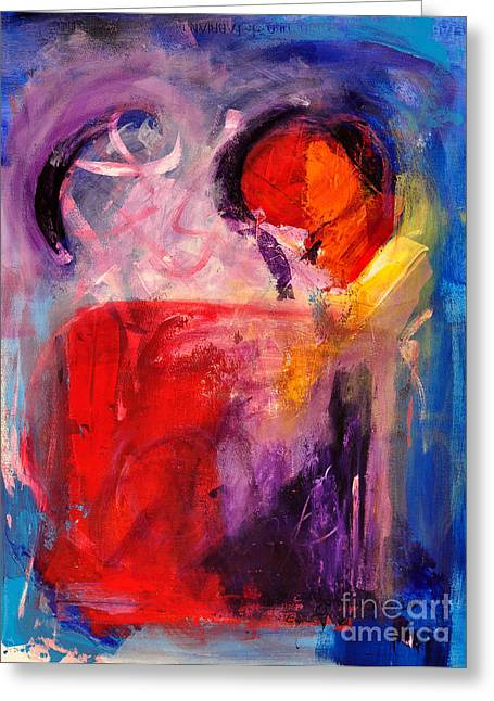 The Unrestricted Heart Greeting Card by Johane Amirault