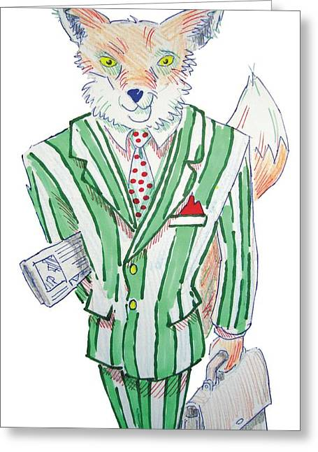Broadsheet Greeting Cards - The Urban Fox Greeting Card by Mike Jory