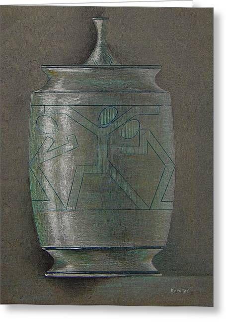 The Urn Greeting Card by Ron Sylvia