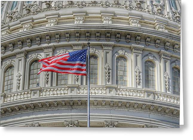 The Us Capitol Building - Washington D.c. Greeting Card by Marianna Mills