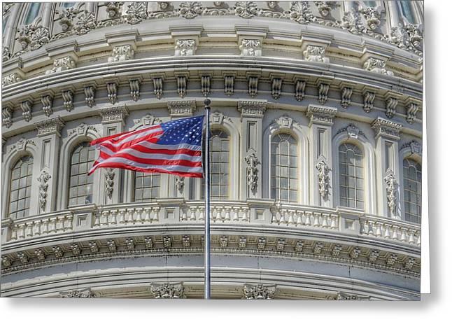 The Us Capitol Building - Washington D.c. Greeting Card