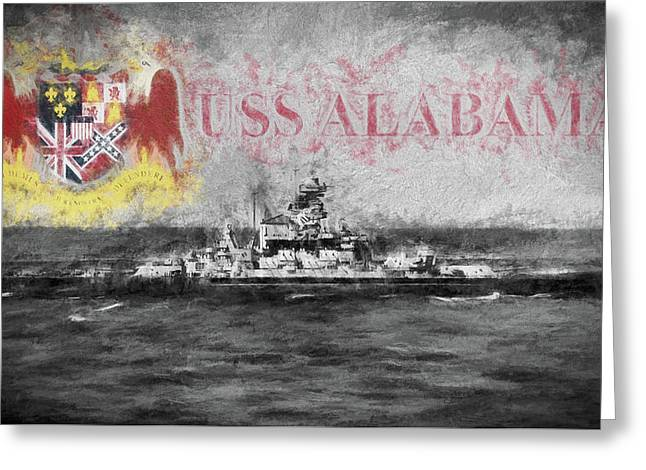 The Uss Alabama Greeting Card