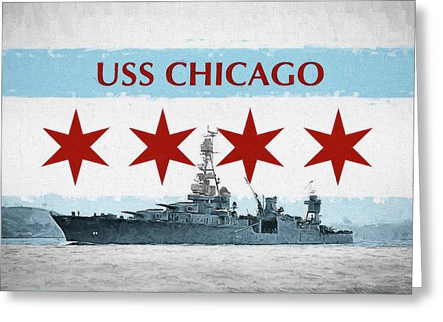 The Uss Chicago Greeting Card