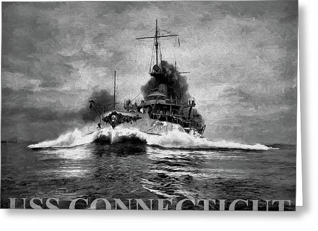 The Uss Connecticut Greeting Card by JC Findley