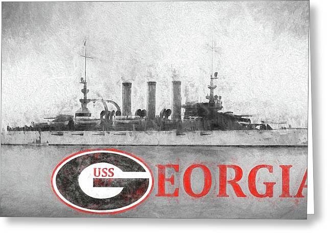 The Uss Georgia Greeting Card by JC Findley