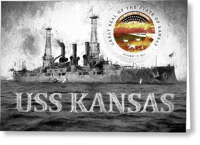 The Uss Kansas Greeting Card by JC Findley
