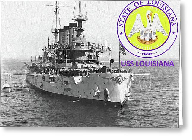 The Uss Louisiana Greeting Card by JC Findley