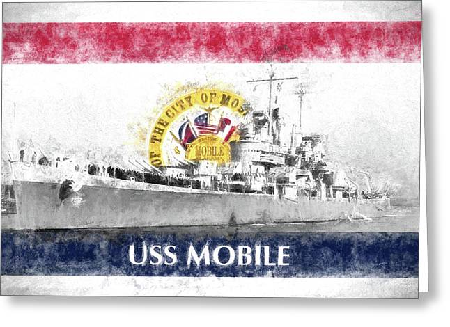 The Uss Mobile Greeting Card