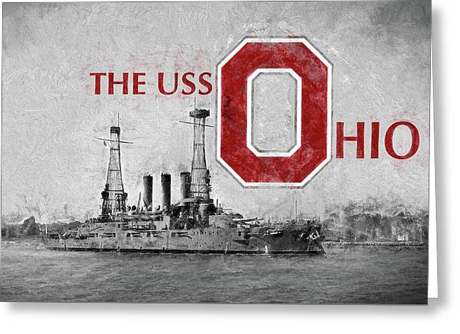 The Uss Ohio Greeting Card by JC Findley