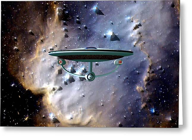 The Emergence Of The Uss Enterprise Greeting Card