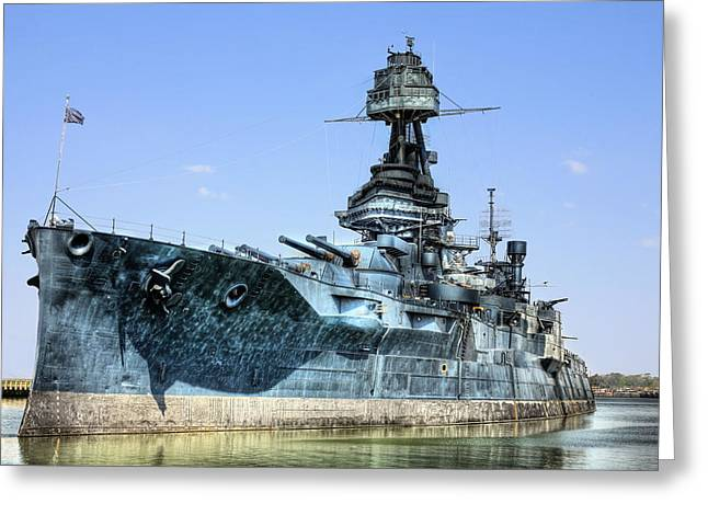 The U.s.s. Texas Greeting Card by JC Findley