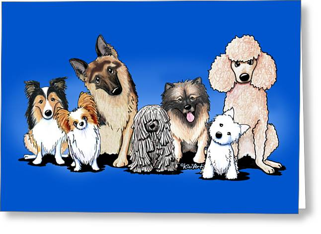The Usual Suspects 3 Greeting Card by Kim Niles