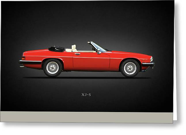 The V12 Xj-s Greeting Card by Mark Rogan