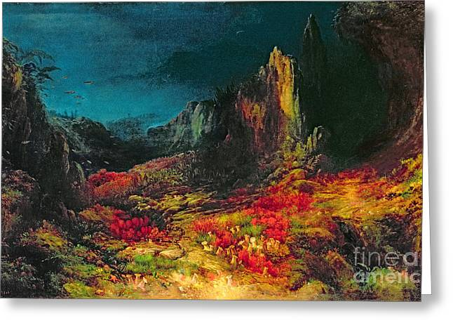 The Valley In The Sea Greeting Card