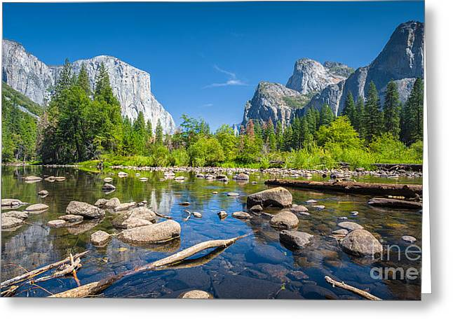 The Valley Greeting Card by JR Photography