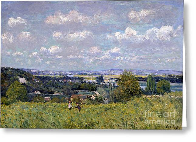The Valley Of The Seine At Saint Cloud Greeting Card by Alfred Sisley