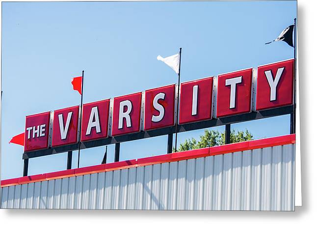 The Varsity Sign Greeting Card by Parker Cunningham