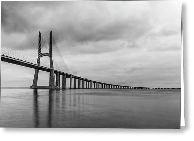 The Vasco Da Gama Bridge Lisbon Greeting Card