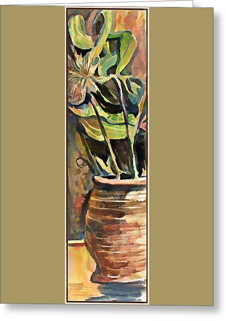 The Vase In The Corner Greeting Card by Mindy Newman