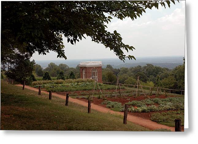 The Vegetable Garden At Monticello Greeting Card