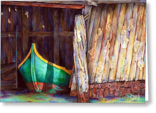 The Venetian Boathouse Greeting Card by Winona Steunenberg