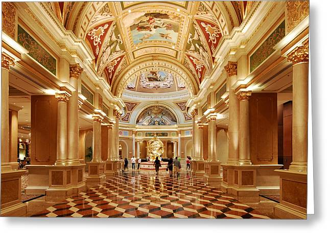 The Venetian Hotel Lobby  Las Vegas Greeting Card