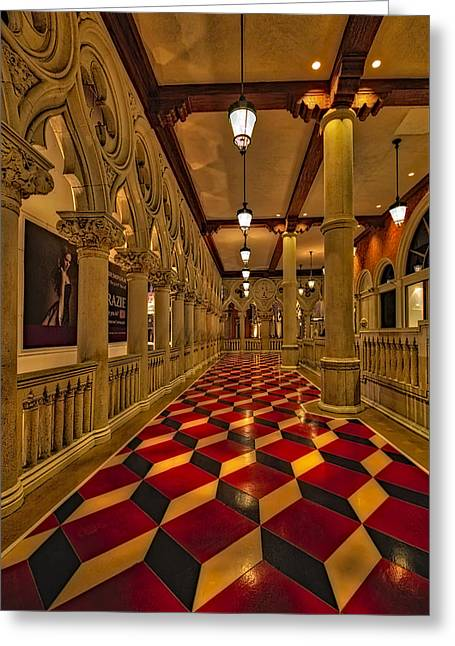 The Venetian Las Vegas Corridor Greeting Card