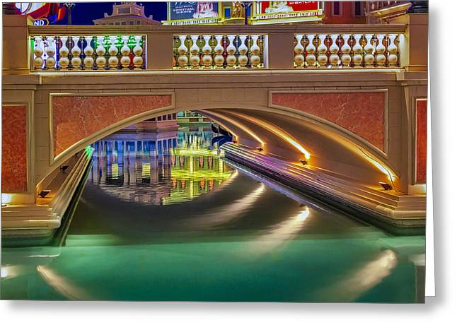 The Venetian Las Vegas Gondolas II Greeting Card by Susan Candelario