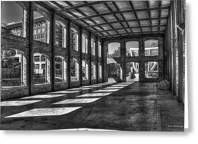 The Venue Bw Old Mill Wedding Venue Reedy River South Caroline Art Greeting Card