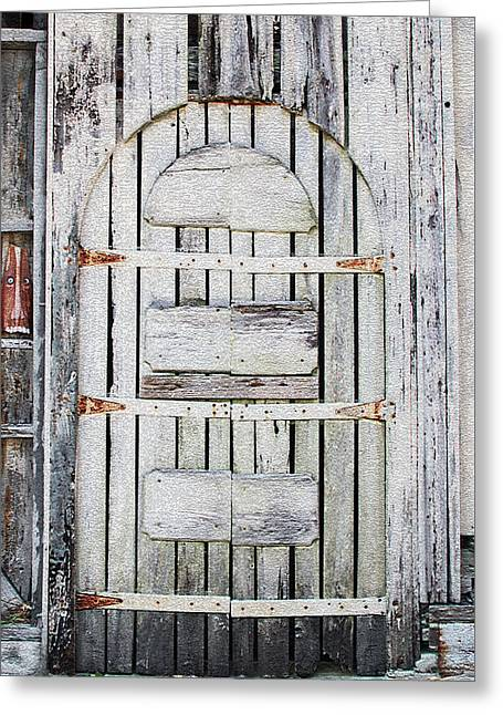 The Very Old Door Greeting Card by Claudia O'Brien