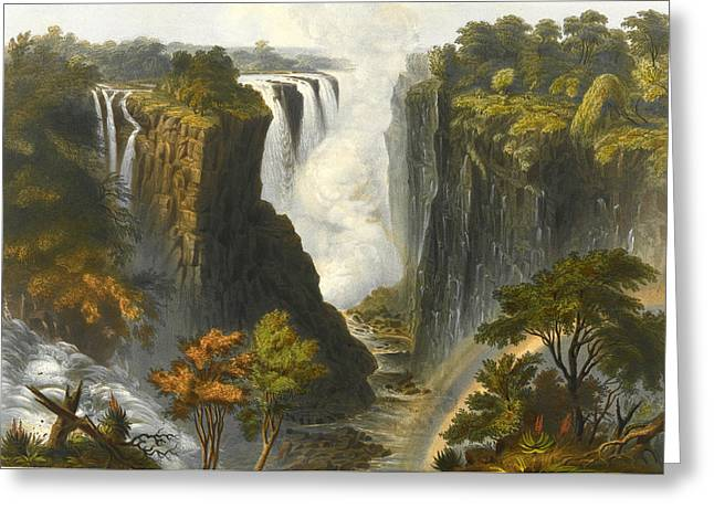 The Victoria Falls From Western End Of Chasm  Greeting Card