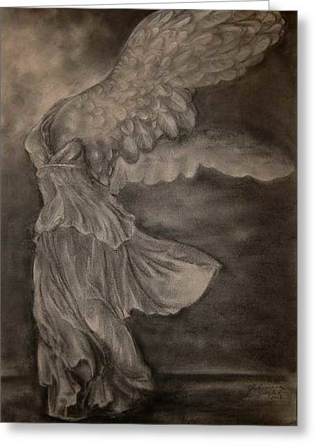 Nike Of Samothrace Greeting Cards - The Victory of Samothrace Greeting Card by Julianna Ziegler