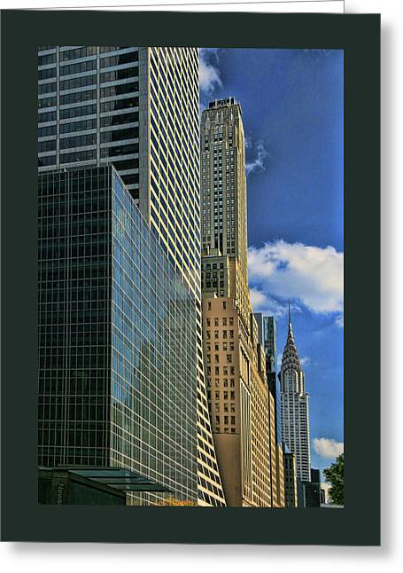 The View From 42nd And 6th Greeting Card by Allen Beatty
