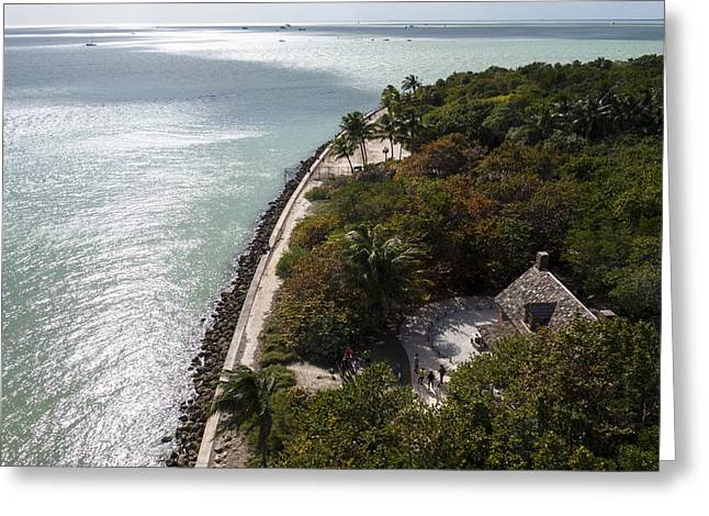 The View From Bigg Baggs Lighthouse On Key Biscayne Florida Greeting Card by Toby McGuire